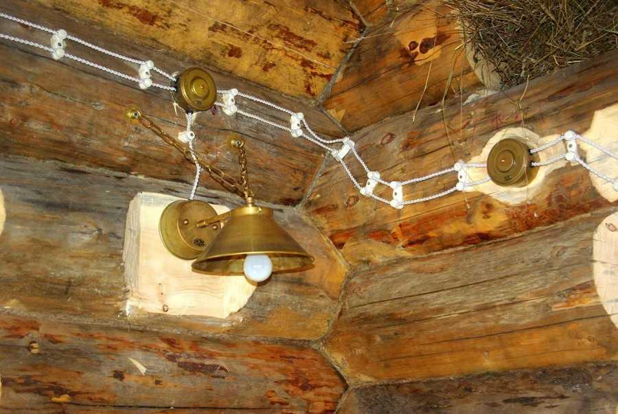 Электрика в деревянном доме схемы проводки  правила монтажа