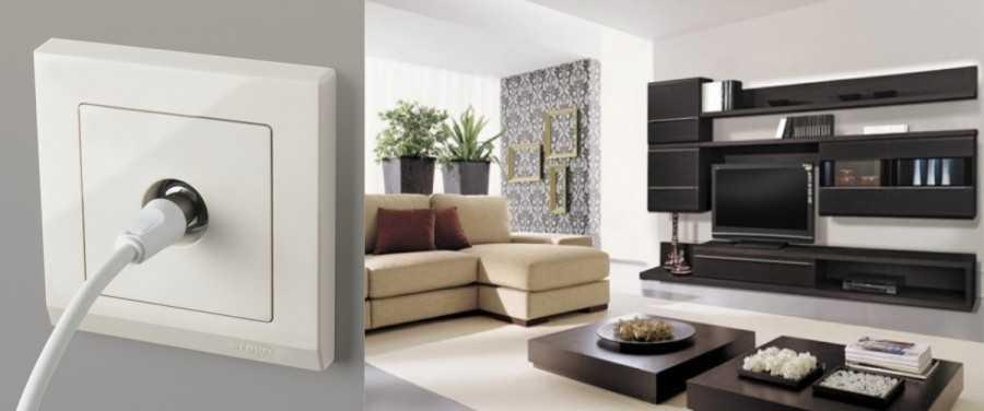 Телевизионная розетка правила и варианту установки на стену
