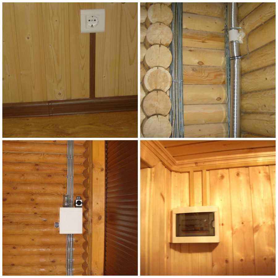 Как провести электричество в деревянном доме своими руками 712