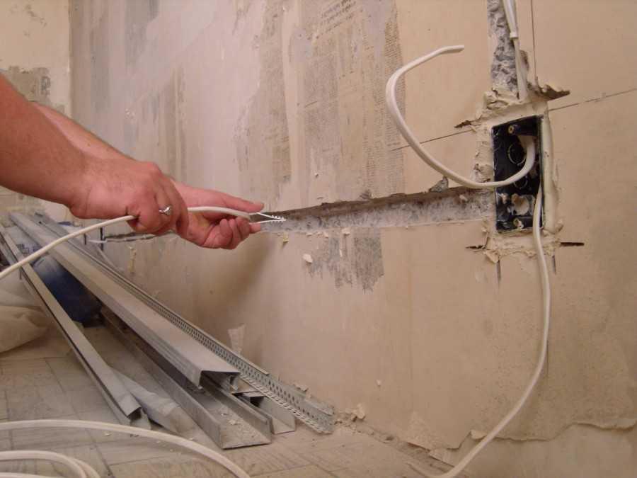 Провести проводку в ванной своими руками 41