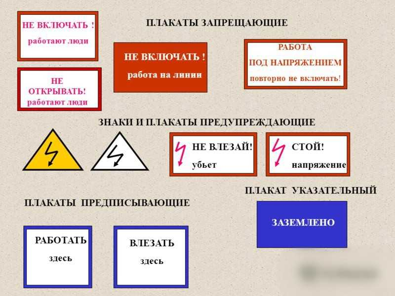 Виды знаков и плакатов электробезопасности журнал присвоения группы по электробезопасности электротехнологического персонала