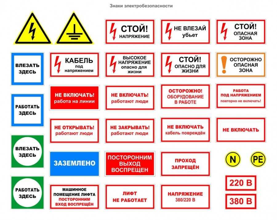 Надписи и знаки по электробезопасности журнал учета 1 группы по электробезопасности как заполнять